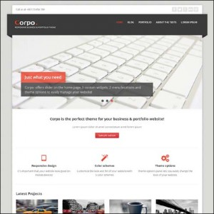 wordpress free theme corpo