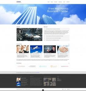 безплатен бизнес корпоративен уърдпрес темплейт