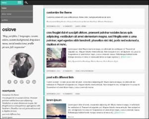 wordpress template Oslove - безплатно сваляне