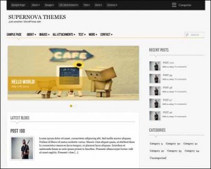 free wordpress theme supernova